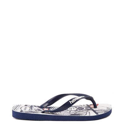 Alternate view of Mens Havaianas Marvel Captain America Top Sandal - Navy