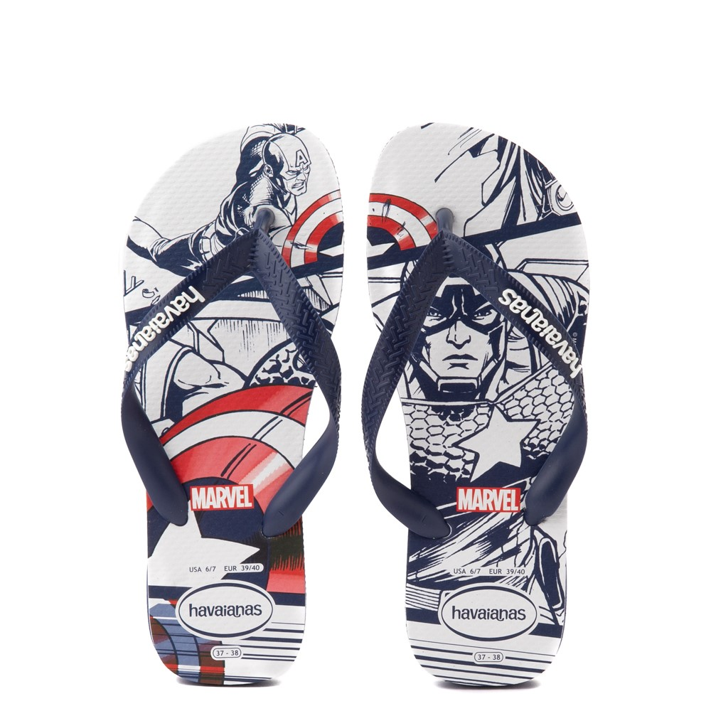 Mens Havaianas Marvel Captain America Top Sandal - Navy