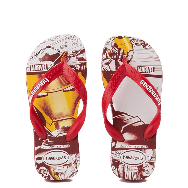 Main view of Mens Havaianas Marvel Iron Man Top Sandal - Red