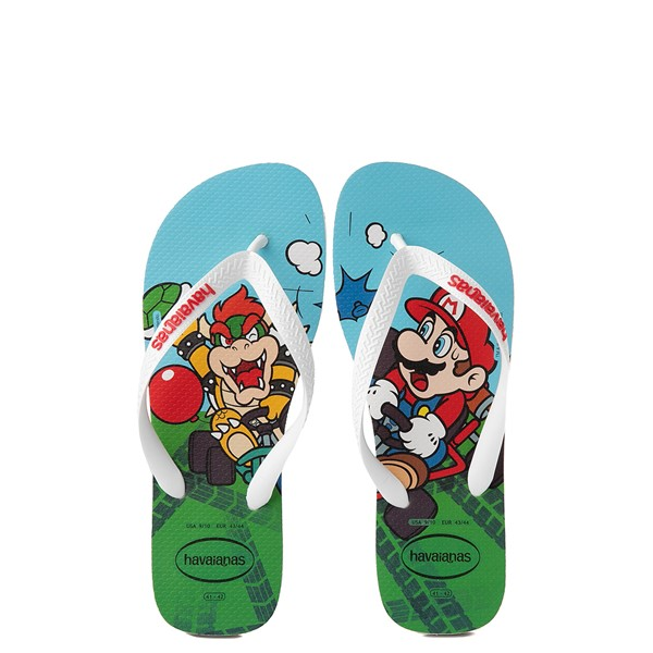 Main view of Havaianas Super Mario Kart Sandal - White