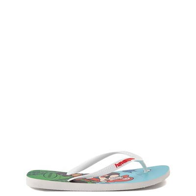 Alternate view of Havaianas Super Mario Kart Sandal - White