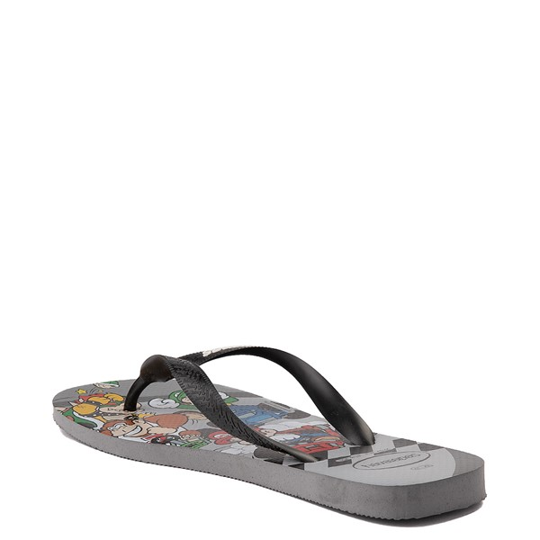 alternate view Havaianas Super Mario Kart Sandal - Steel GrayALT1B