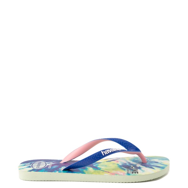 alternate view Womens Havaianas Top Sandal - Tie Dye / Apple GreenALT1