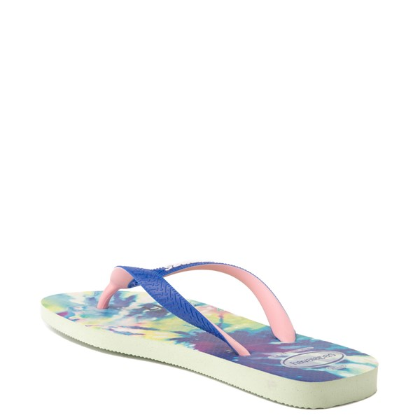 alternate view Womens Havaianas Top Sandal - Tie Dye / Apple GreenALT2