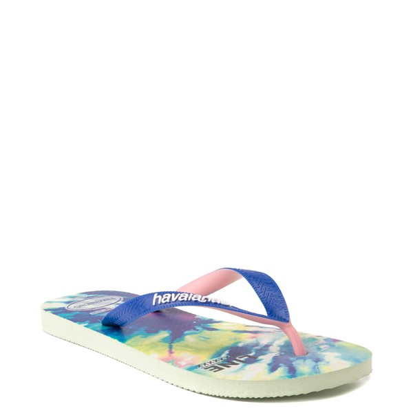 alternate view Womens Havaianas Top Sandal - Tie Dye / Apple GreenALT5