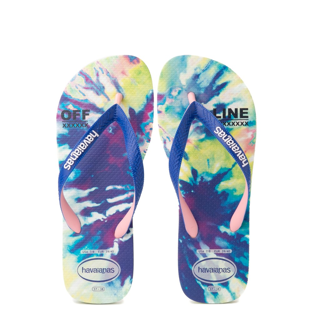 Womens Havaianas Top Sandal - Tie Dye / Apple Green