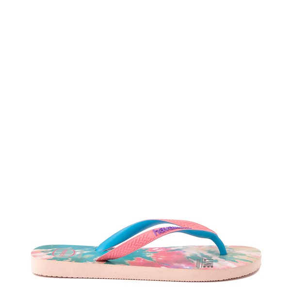 alternate view Womens Havaianas Top Sandal - Tie Dye / Ballet RoseALT1