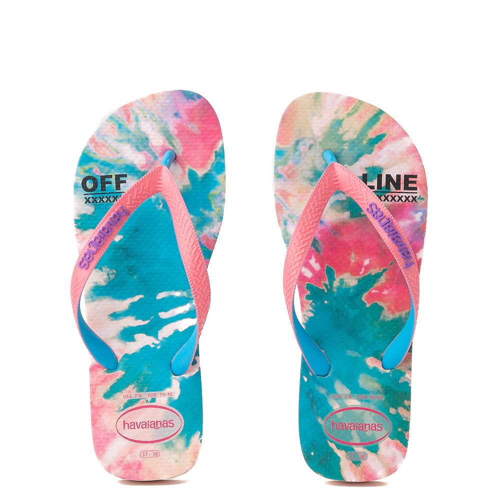 Womens Havaianas Top Sandal - Tie Dye / Ballet Rose