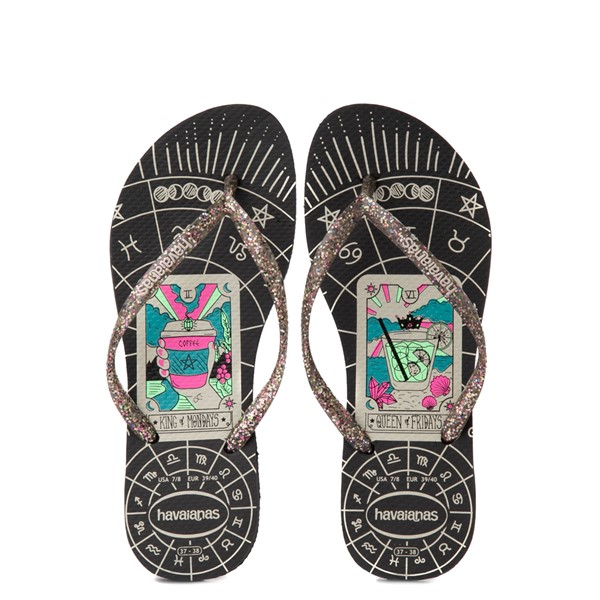 Main view of Havaianas Slim Mystic Sandal - Black