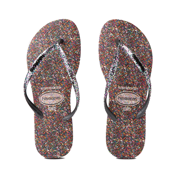 Womens Havaianas Slim Carnaval Sandal - Black / Multicolor