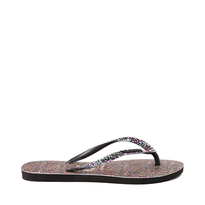 Alternate view of Womens Havaianas Slim Carnaval Sandal - Black / Multicolor