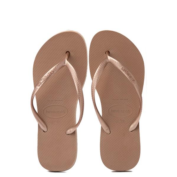 alternate view Womens Havaianas Slim Flatform Sandal - Rose GoldALT1