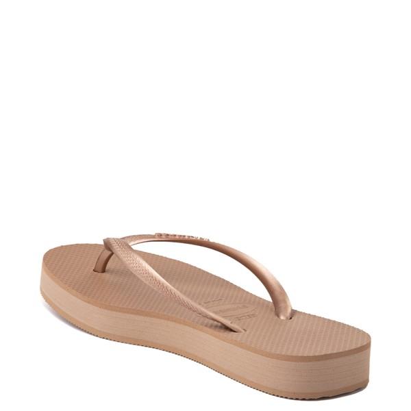 alternate view Womens Havaianas Slim Flatform Sandal - Rose GoldALT1B