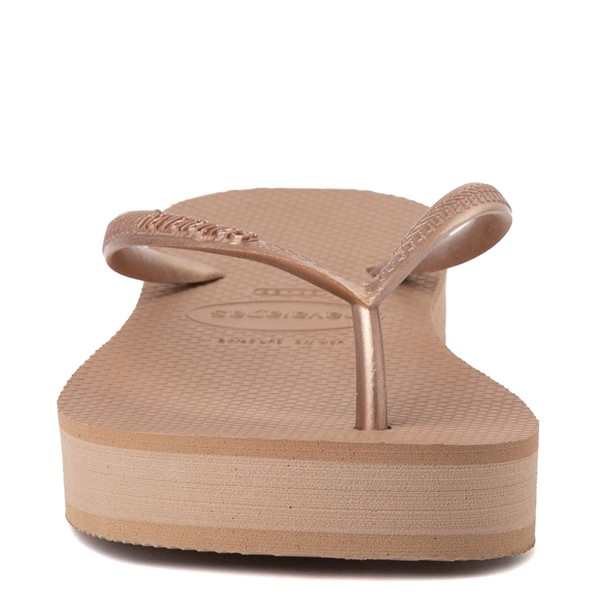 alternate view Womens Havaianas Slim Flatform Sandal - Rose GoldALT4