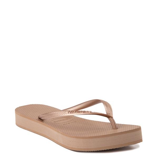 alternate view Womens Havaianas Slim Flatform Sandal - Rose GoldALT5