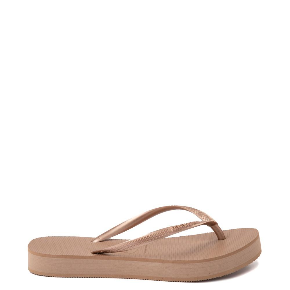 Womens Havaianas Slim Flatform Sandal - Rose Gold