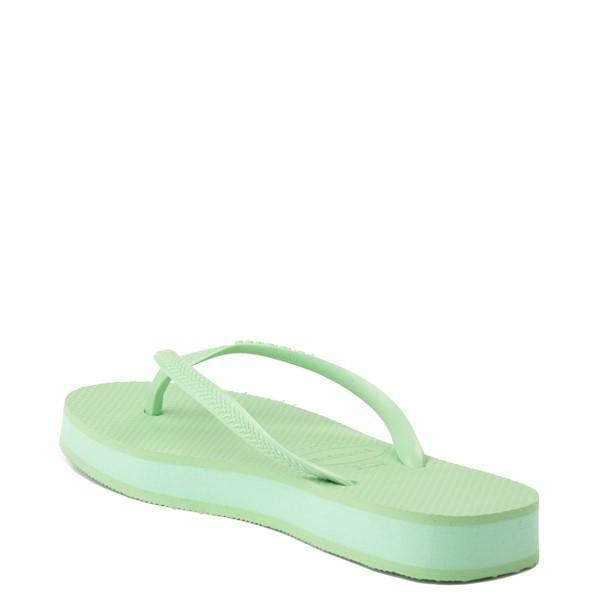 alternate view Womens Havaianas Slim Flatform Sandal - Hydro GreenALT1B