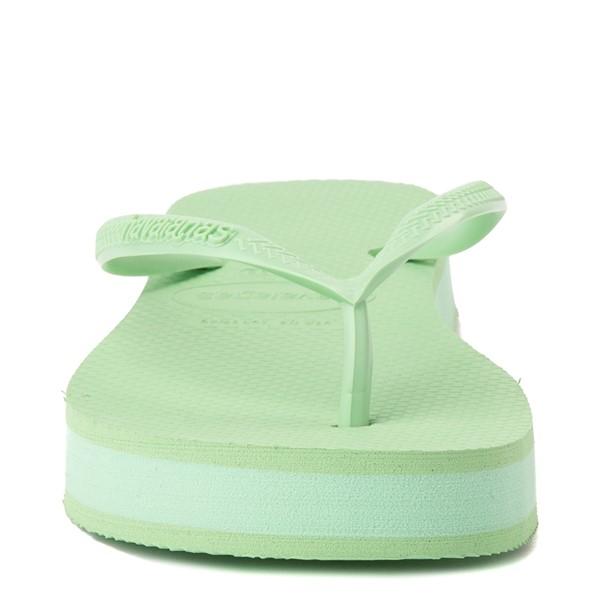 alternate view Womens Havaianas Slim Flatform Sandal - Hydro GreenALT4
