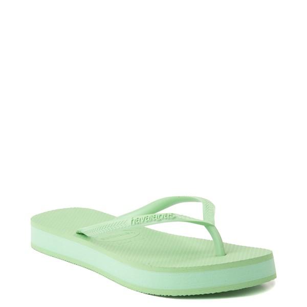 alternate view Womens Havaianas Slim Flatform Sandal - Hydro GreenALT5