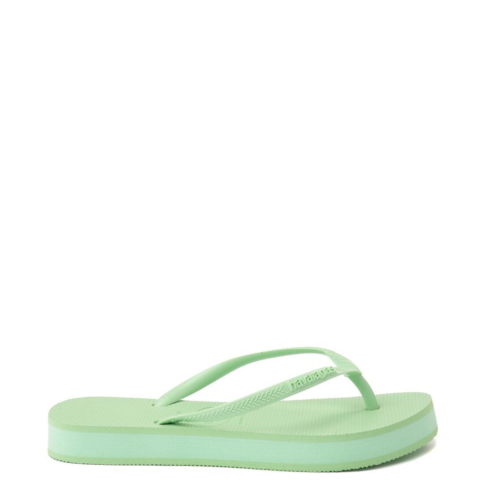 Womens Havaianas Slim Flatform Sandal - Hydro Green