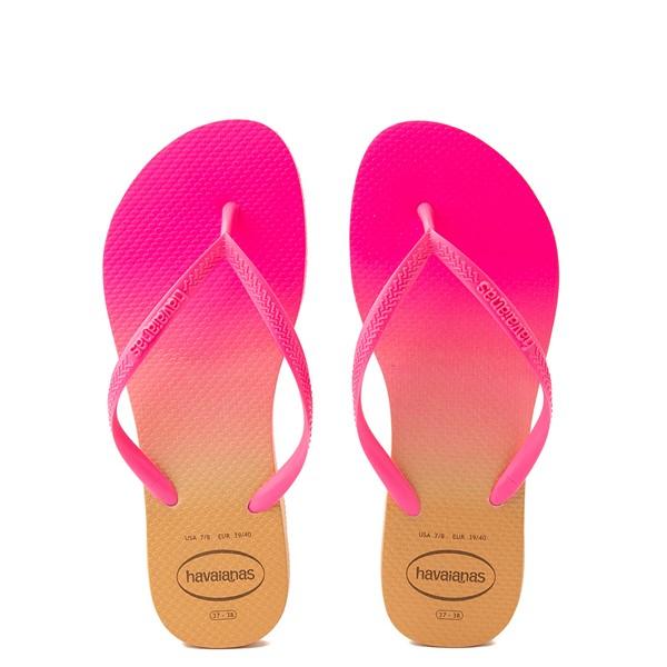 Womens Havaianas Slim Gradient Sandal - Pink Flux