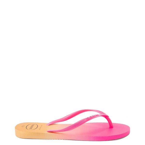 alternate view Womens Havaianas Slim Gradient Sandal - Pink FluxALT1