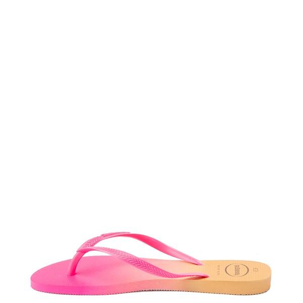 alternate view Womens Havaianas Slim Gradient Sandal - Pink FluxALT2