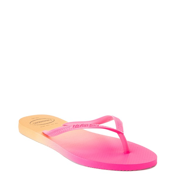 alternate view Womens Havaianas Slim Gradient Sandal - Pink FluxALT5