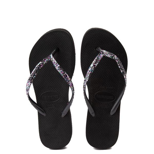 Main view of Womens Havaianas Slim Flatform Shine Sandal - Black