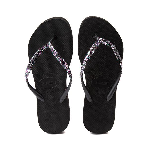 alternate view Womens Havaianas Slim Flatform Shine Sandal - BlackALT1