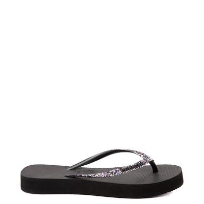 Alternate view of Womens Havaianas Slim Flatform Shine Sandal - Black