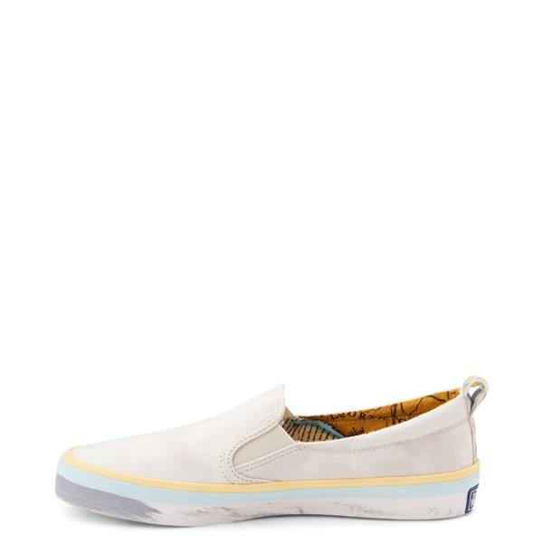 alternate view Womens Sperry Top-Sider x Outer Banks Crest Slip On Casual Shoe - NaturalALT1