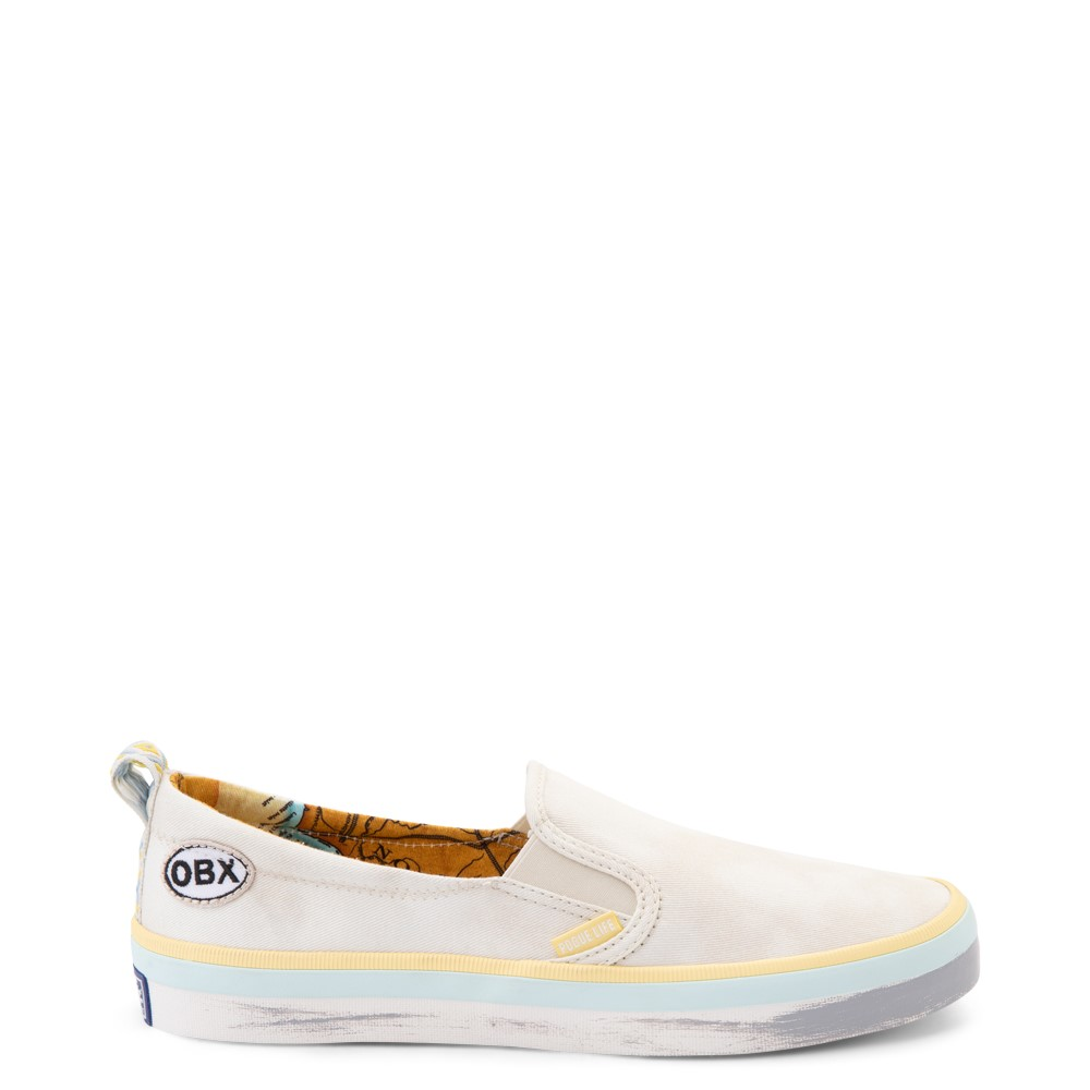 Womens Sperry Top-Sider x Outer Banks Crest Slip On Casual Shoe - Natural