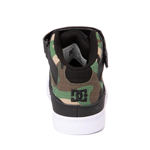 alternate view DC Pure Hi EV Skate Shoe - Little Kid / Big Kid - Black / CamoALT4