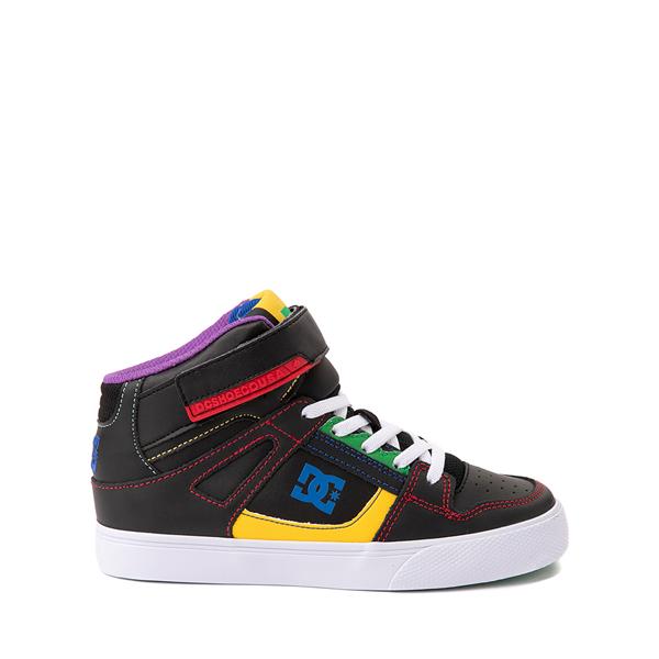 Main view of DC Pure Hi EV Skate Shoe - Little Kid / Big Kid - Black / Multicolor