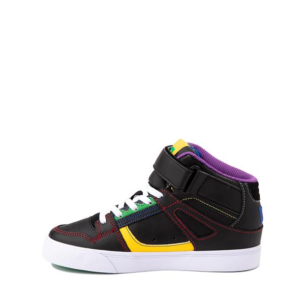 alternate view DC Pure Hi EV Skate Shoe - Little Kid / Big Kid - Black / MulticolorALT1