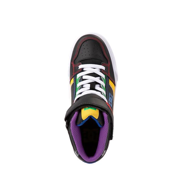 alternate view DC Pure Hi EV Skate Shoe - Little Kid / Big Kid - Black / MulticolorALT2