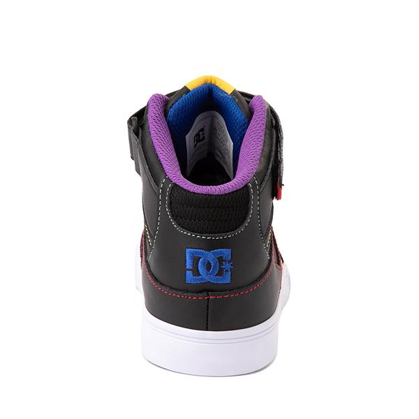 alternate view DC Pure Hi EV Skate Shoe - Little Kid / Big Kid - Black / MulticolorALT4