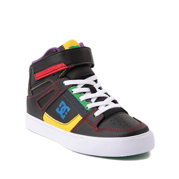 alternate view DC Pure Hi EV Skate Shoe - Little Kid / Big Kid - Black / MulticolorALT5