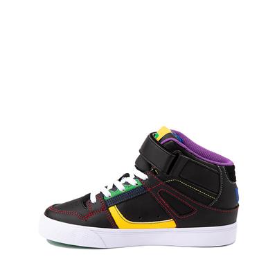 Alternate view of DC Pure Hi EV Skate Shoe - Little Kid / Big Kid - Black / Multicolor