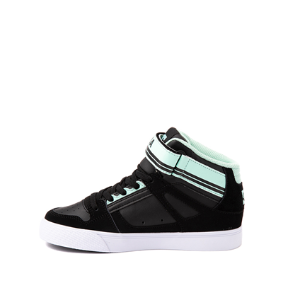 Alternate view of DC Pure Hi EV Skate Shoe - Little Kid / Big Kid - Black / Mint