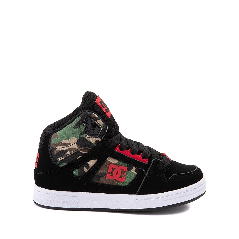 DC Pure Hi Skate Shoe - Little Kid / Big Kid - Black / Camo