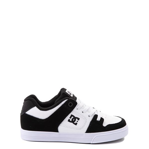 Main view of DC Pure Elastic Skate Shoe - Little Kid / Big Kid - Black / White