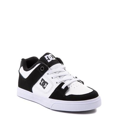 Alternate view of DC Pure Elastic Skate Shoe - Little Kid / Big Kid - Black / White