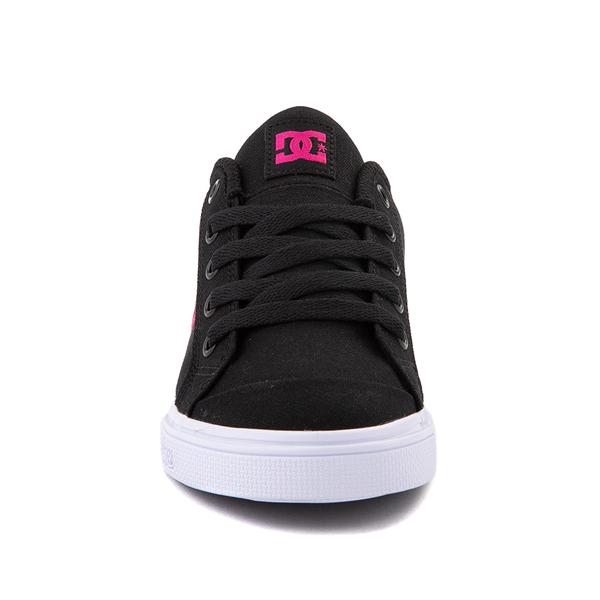 alternate view DC Chelsea Skate Shoe - Little Kid / Big Kid - Black / PinkALT4