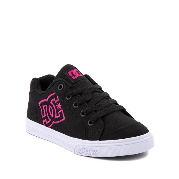 alternate view DC Chelsea Skate Shoe - Little Kid / Big Kid - Black / PinkALT5