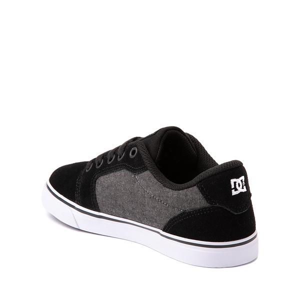 alternate view DC Anvil Skate Shoe - Little Kid / Big Kid - Black / GrayALT1