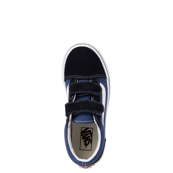 alternate view Vans Old Skool V Skate Shoe - Little Kid - Navy / BlackALT4B