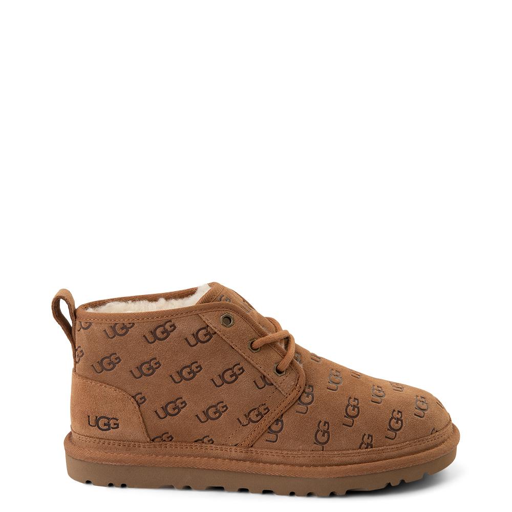 Womens UGG® Neumel Emboss Short Boot - Chestnut