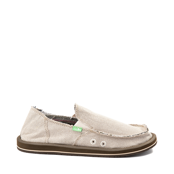 Mens Sanuk Hemp Casual Shoe - Khaki